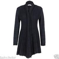 New Women Ladies Knitted Plus Size Boyfreind Cardigans Waterfall Cardigan Jumper