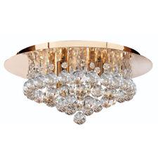 Searchlight 3404-4GO Hanna Gold 4 Light Semi-Flush Clear Crystal Balls