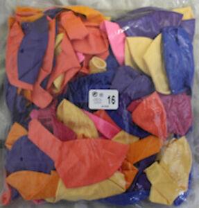 Luftballons, Latex Occidental 16 Zoll = 40 cm Durchmesser gem Farben nur Matt