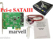 SATA3.0 SATA III 2-PORT Internal 6Gbps Ports to PCI-expess Controller Card