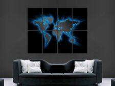 Mappa del mondo GLO Arte Muro Foto Poster gigante enorme