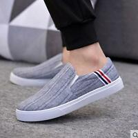 HOT!! Men Sneakers Sport Canvas Breathable Running Slip on Casual Athletic shoes