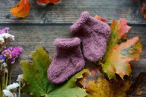 Unique handmade newborn baby socks sheep wool rough knitted socks clothing