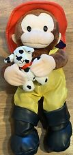 """Curious George by Russ Berrie/Applause (2007) • Firefighter 👩🚒 41 • 12"""" Plush"""