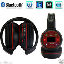 Foldable Headset Bluetooth Wireless Stereo Headphone + Microphone for iPhone ZTE