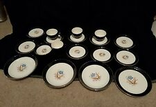 Vintage Taylor Smith Taylor Versatile Blue Embassy CUPS, Dishes & Bowls. 18 pc.