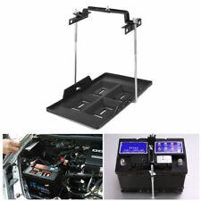 Adjustable Car Storage Battery Tray Holder Base + Hold Down Clamp Bracket Kit