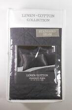 """Levtex Home Black Euro Sham Linen/Cotton 20"""" x 26� standard pillow sham"""
