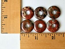 6 Natural Gemstone Round Donut Ring Pendant 20mm Beads Necklace Earring Jewelry