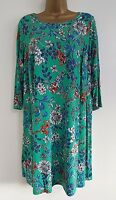NEW Ex Ann Harvey Plus Size 16-32 Green Floral Print Tunic Top Blouse Holiday
