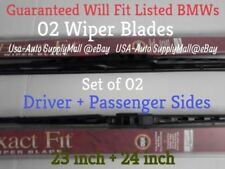 Set of 02 Trico Exact Fit Metal Fra Wiper Blades 2006-2007 BMW 530i 530xi 525xi