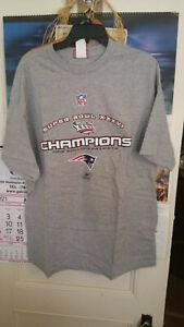 NE Patriots Super Bowl XXXVI Champions T-shirt, Mens L, New Without Tags