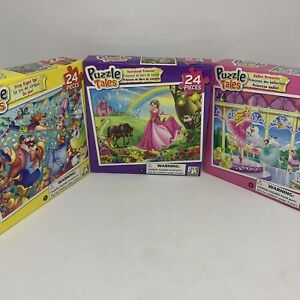 Brand New Set of 3 Children's Puzzles - Puzzle Tales 24 Pieces 5+ Years (2017)