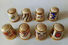 8 Royal Crown Derby Porcelain Thimbles
