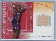 2000-2001 Fleer Genuine Basketball Vince Carter Raptors Game-used Court Card