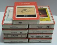 8 Track Lot Of 9 Music Cassettes Free Shipping