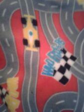 Red racetrack fleece blanket 36x30 kids baby blanket personalized fleece