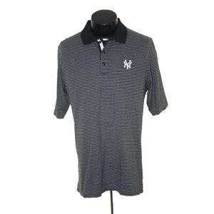 New York Yankees shirt Golf polo adult medium Black White Stripe