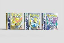 Pokemon Gold + Silver + Crystal [GBC] Repro Leerboxen | Replacement Boxes | Set