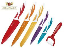 Zillinger Swiss Antibacterial Ceramic Coated 6 PC Stainless Steel Knife Set