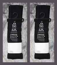 BNIP Black Warm Leggings with Metalic Silver Studded Patterns ONE SIZE by Flirt