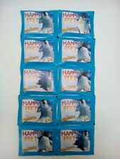 10 pochettes Happy Feet - Merlin - no panini upper deck topps magic box int.