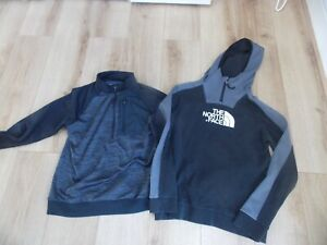 BOYS THE NORTH FACE UNDER ARMOUR HOODIE TRACKSUIT TOP AGE 13-14 YEARS YXL