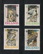 Iceland #762-765 VF MNH - 1992 5k To 35k WWF Birds Falcon - SCV $11.00