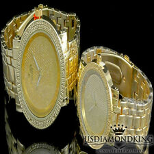 100% Authentic Genuine .06ct Diamond His & Her Gold Finish DiamondMaxx Watch Set