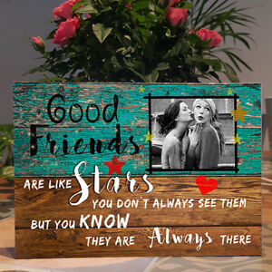 Personalised Photo, Best Friend Gift,Friends are like Stars,Friends Plaque Sign