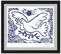"Pablo Picasso Hand Signed Ltd Edition Print ""Blue Dove of Peace"" w/COA(unframed)"