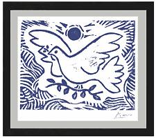 "Pablo Picasso Orig Ltd Ed Print ""Blue Dove of Peace"" HandSigned w/COA (unframed)"