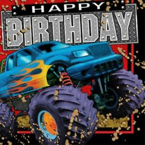 Monster Jam Mudslinger Happy Birthday Lunch Napkins 16 Count Party Supplies