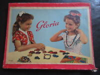 Gloria Perlen-Spiel-Fädeln-DDR Spielzeug