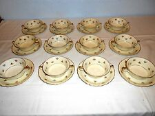 """Continental Ivory ~ Rosenthal """"Rob Roy"""" ~ Cream Soup Bowls (12 Sets) ~ Excellent"""