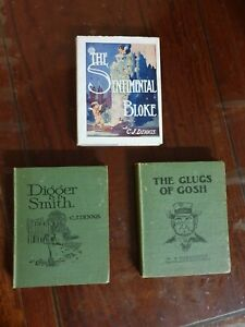 RARE Lot !!  CJ DENNIS The Glugs of Gosh Digger Smith Songs of Sentimental Bloke