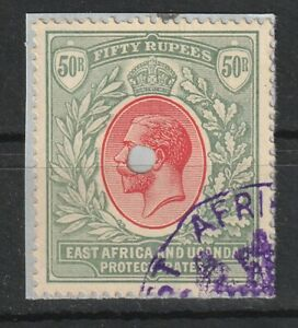 1912-21 KUT S.G.61 50R.Dull Rose-Red & Dull Greyish-Green Very Fine Revenue used