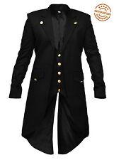 NUOVI Pantaloncini Uomo steampunk Frac Gotico Vittoriano Giacca Cappotto Trench Costume