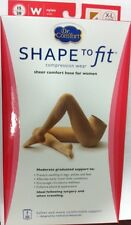 Womens 15-20 mmhg Compression Pantyhose Stockings Supports Dr Comfort ShapetoFit