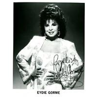 Eydie Gorme Autographed / Signed Black & White 8x10 Photo