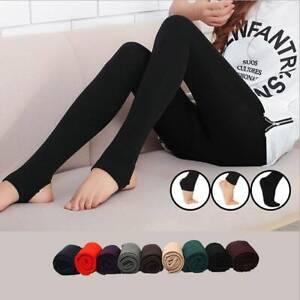 Women Winter Thermal Leggings Soft Fleece Lined Warm Stretchy Leggings Pants