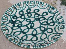 Gmundner Keramik  Durchbruchteller, grüngeflammt, gebraucht