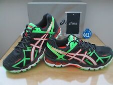 ASICS GEL-KAYANO 21 (4E) EXTRA WIDE BLACK GREEN RUNNING TRAINERS SIZE 9 EURO 44