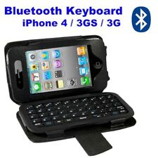 3 in 1 Keyboard Bluetooth Battery Case Eco leather Nera iPhone 3 3GS 4 4S