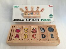 Jigsaw Alphabet Puzzle Wooden A-Z Uppercase Letters Voila S609 26 Puzzles
