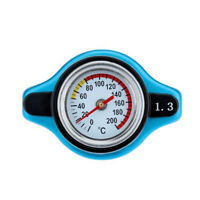 Thermostatic Gauge Radiator Cap 1.3 Bar Big Head Uprated Blue Up To 240 Degrees