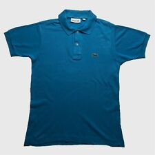 Mens Lacoste Polo Shirt Small/2 Blue Short Sleeve Classic Fit Cotton