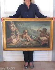 huile sur toile peinture tableau putti chérubins fin 18eme début 19eme