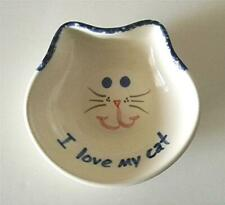 Hand-Painted, Lead-Free, Glazed Ceramic Cat Food Bowl Purr-Fect For Dry/Wet Food