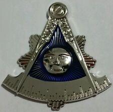 Freemason Masonic Past Master cut-out car emblem in silver